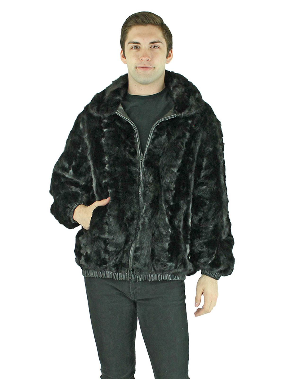 Man's Section Ranch Mink Fur Jacket