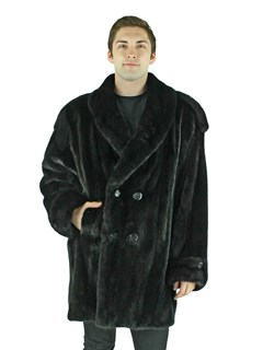 Man's Ranch Mink Double Breasted Coat