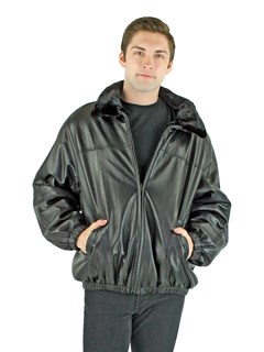 Man's Ranch Mink Bomber Jacket Reversible to Leather