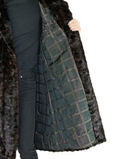 Man's Double Breasted Mahogany Mink Section Fur Coat