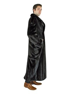 Man's Double Breasted Ranch Mink Fur Coat