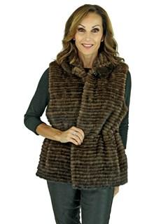 New Gorski Woman's Scanbrown Mink Vest