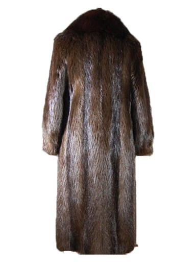 Long Hair Beaver Fur Coat