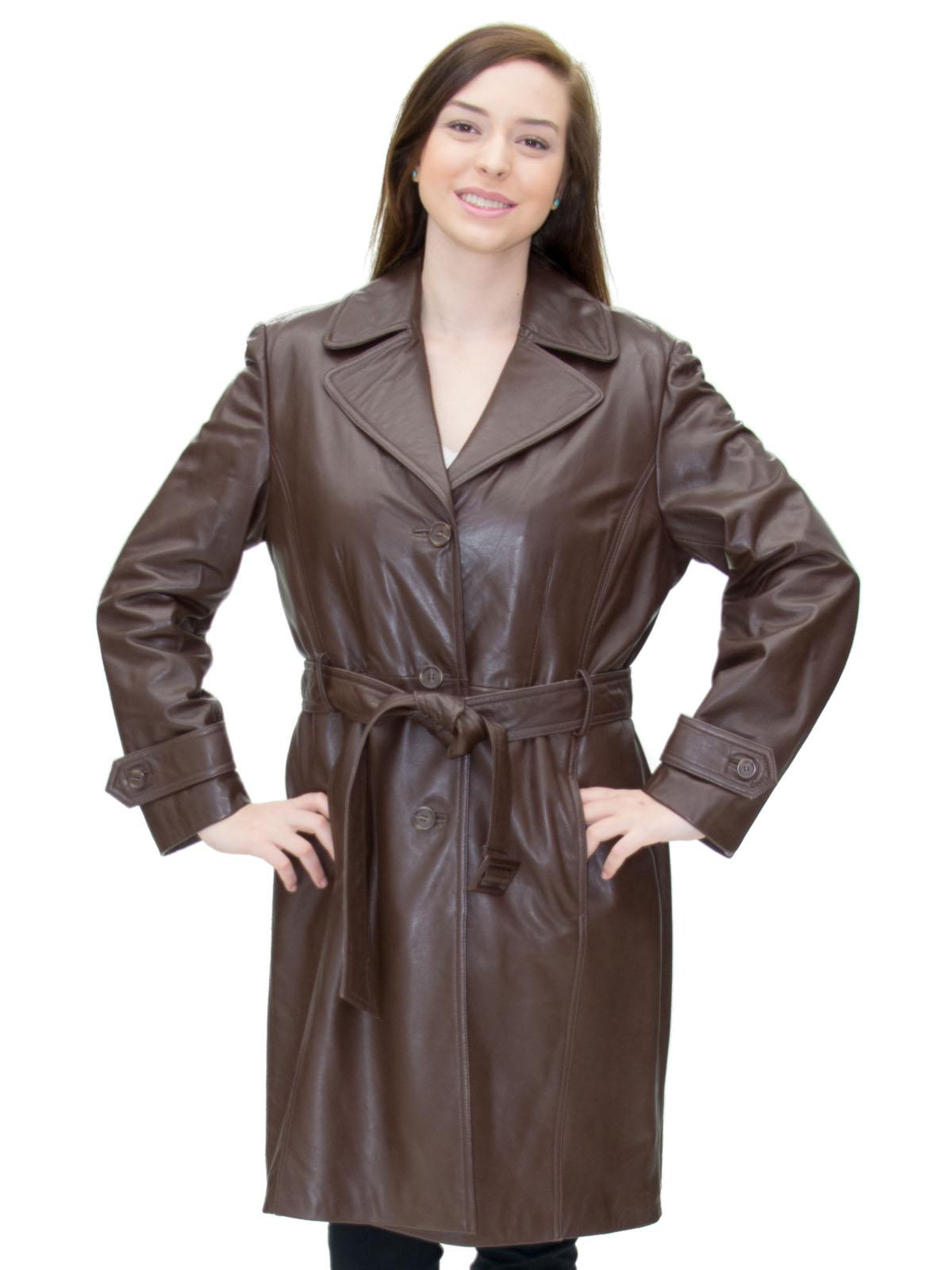 NEW Brown Cabretta Lamb Short Trench Coat