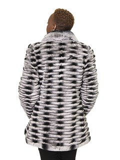 NEW Chinchilla Rex Rabbit Grooved Jacket
