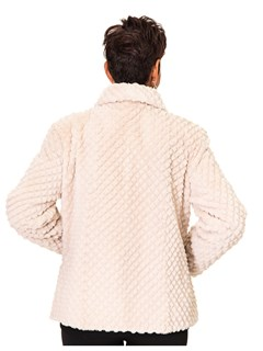 NEW Rosebeige Sheared Beaver Grooved Jacket