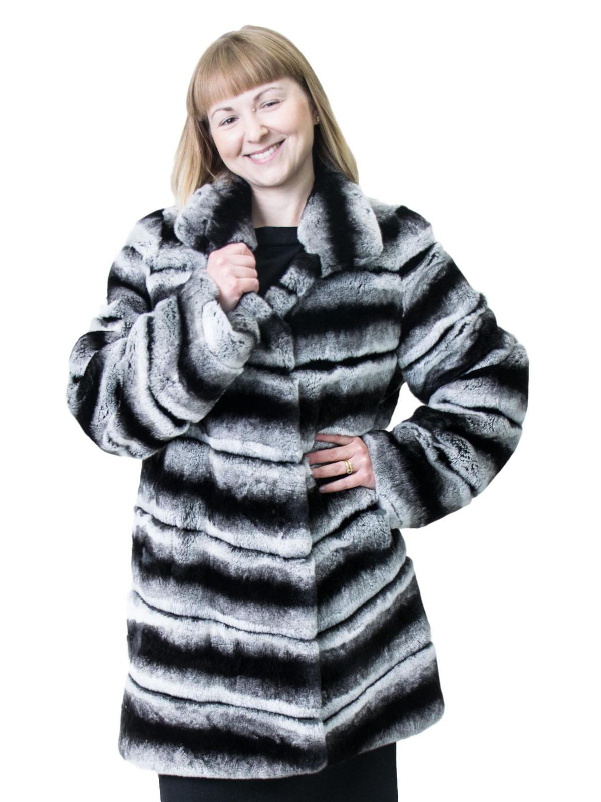 NEW Chinchilla Rex Rabbit Jacket