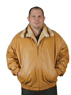 NEW Reversible Rex Rabbit to Cabretta Lamb Leather Jacket