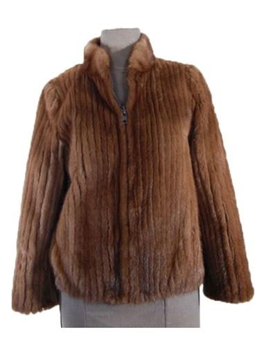 Lunaraine Mink Fur Cord Cut Jacket