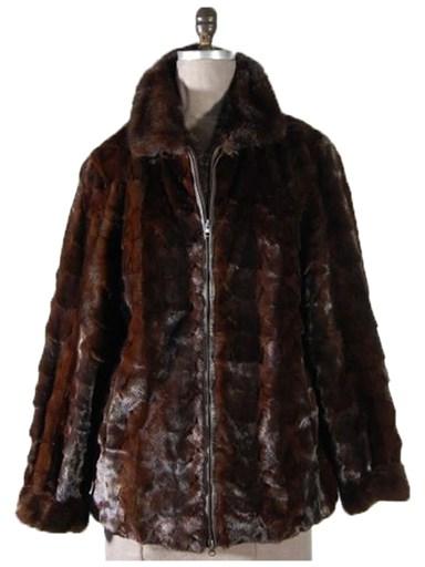 Mink Fur Section Jacket