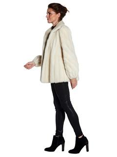 Woman's Sorbara Pearl Mink Fur Jacket