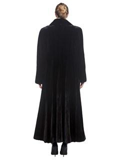 Woman's Full Length Mink Fur Coat with Notch Collar