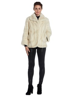 Woman's White Mink Fur Jacket