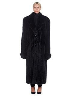 Man's Full Length Ranch Mink Fur Coat