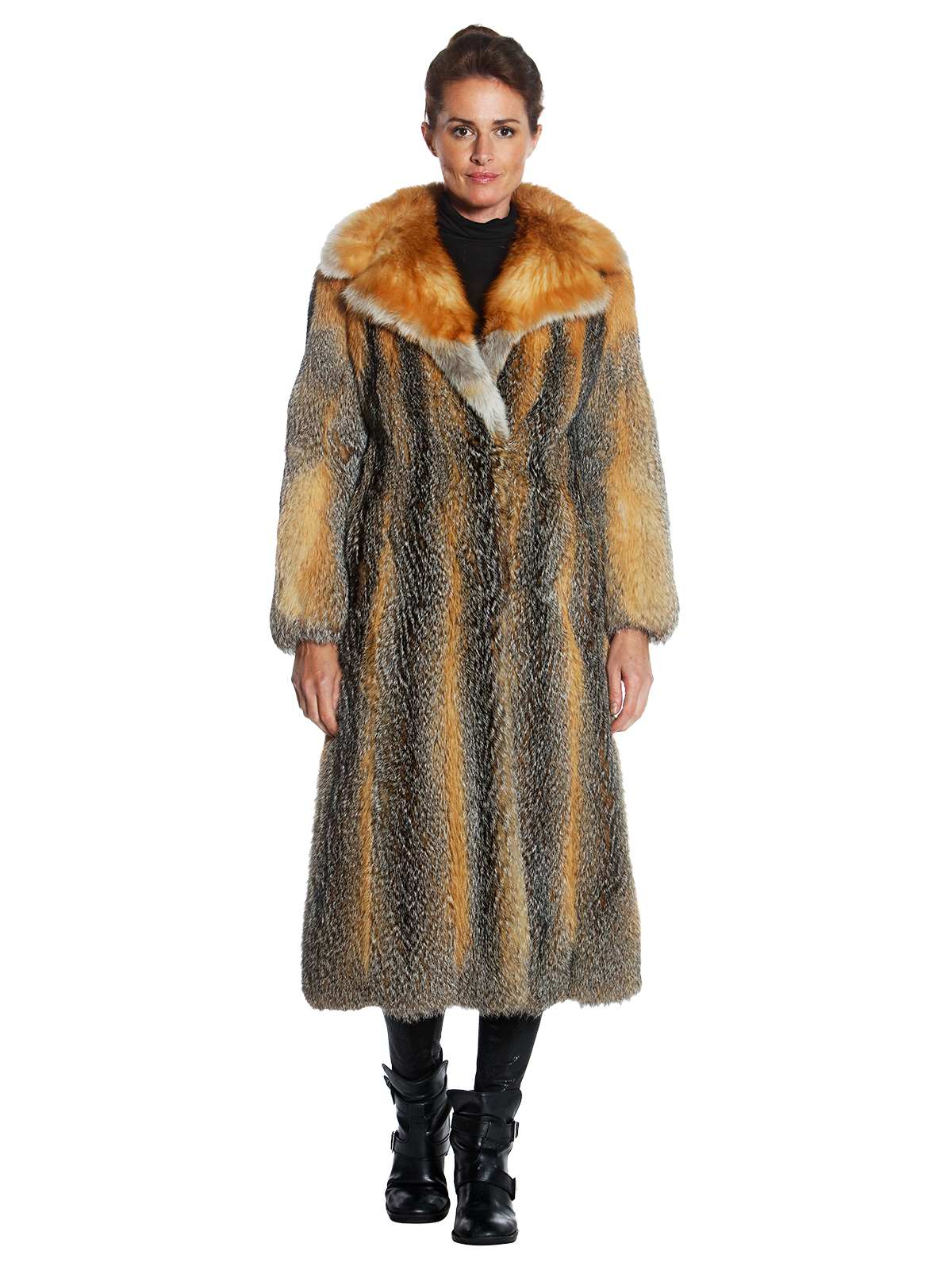 Woman's Kit Fox Fur Long Coat