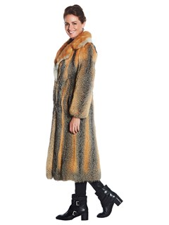 Woman's Kit Fox Fur Long Coat