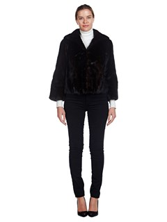 Woman's Ranch Mink Fur Cropped Jacket