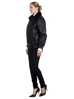 Woman's Reversible Ranch Mink Fur and Leather Jacket