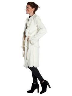 Woman's White Rabbit Hideout Coat