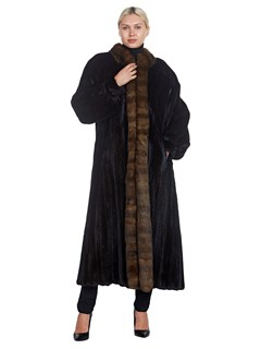 Woman's Full Length Ranch Mink and Sable Fur Coat