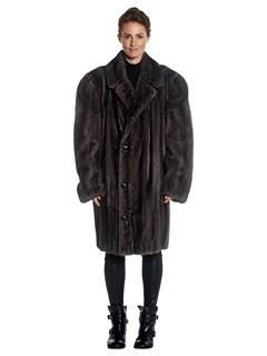 Man's Blue Iris Mink Fur Coat