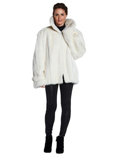 Man's White Mink Fur Jacket