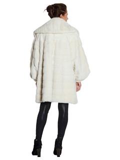 Woman's White Mink Fur Stroller