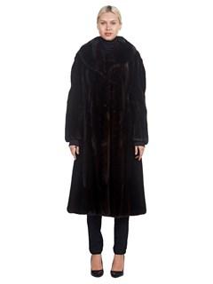 Woman's Ranch Mink Fur 7/8 Coat