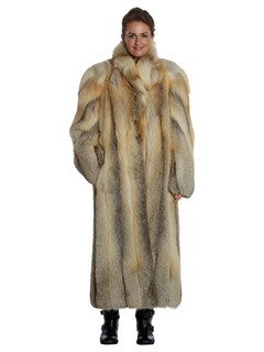 Woman's Full Length Fox Fur Coat