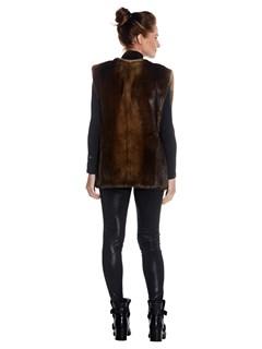 Woman's Mahogany Otter Fur Vest