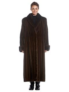 Woman's Full Length Mahogany Mink Fur Coat