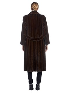 Woman's Mahogany Mink Fur 7/8 Coat