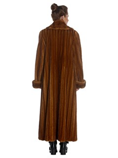 Woman's Full Length Wild Type Mink Fur Coat