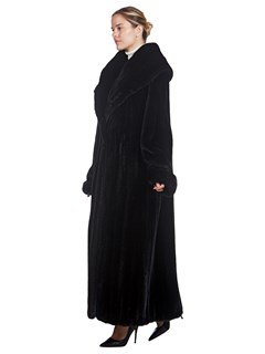 Woman's Full Length Ranch Mink Fur Coat