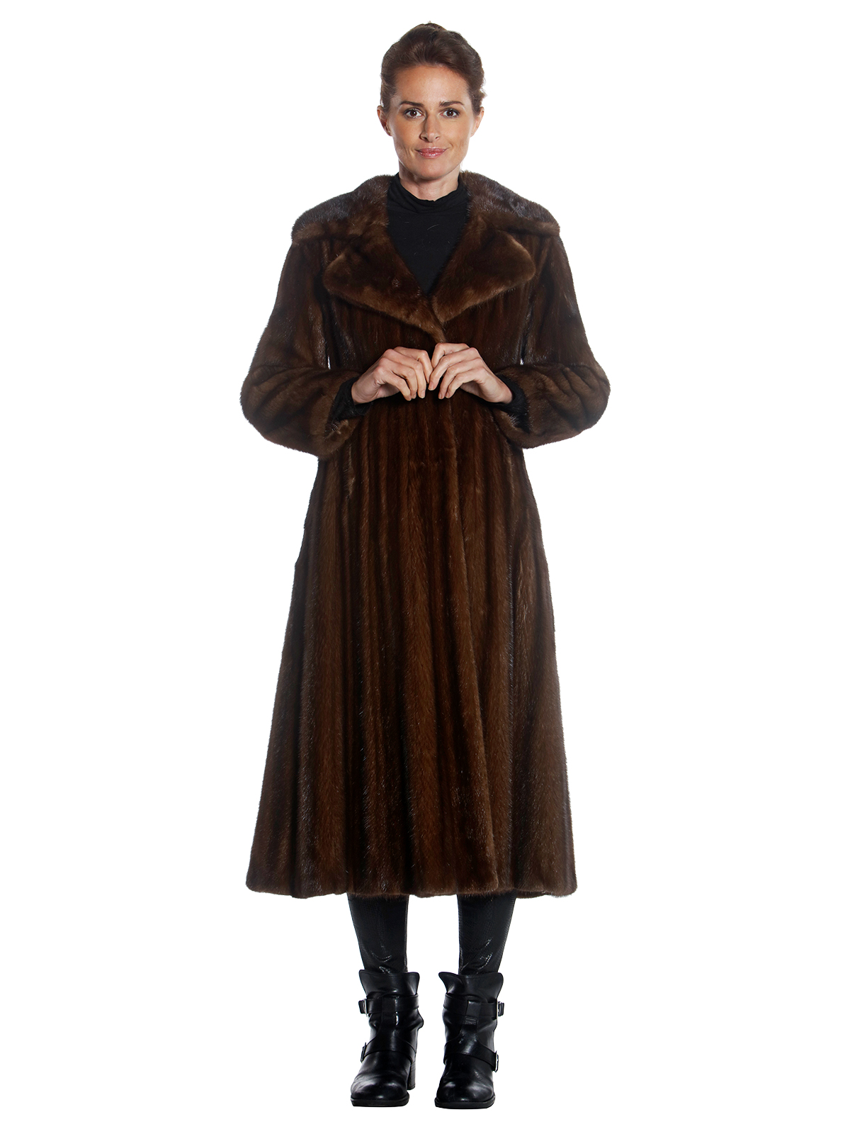 Woman's Thorpe Lunaraine Mink Coat with Notch Collar