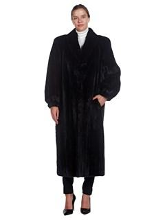 Woman's Full Length Kotsovos Ranch Mink Fur Coat