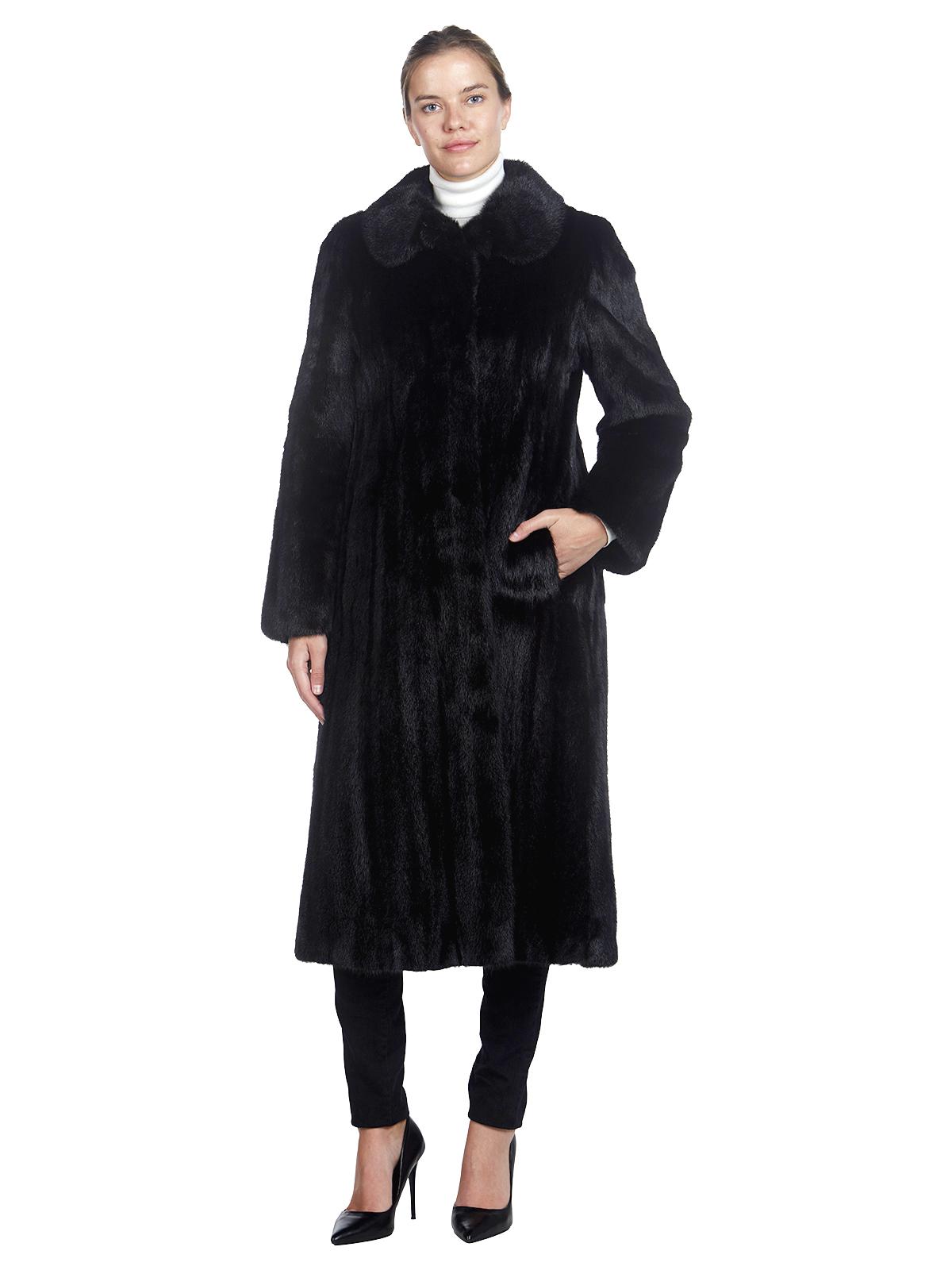 Woman's Saga Mink Ranch Mink Fur 7/8 Coat