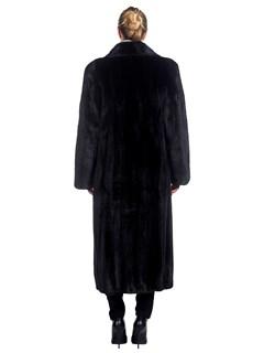 Woman's Full Length Ranch Dyed Mink Fur Coat