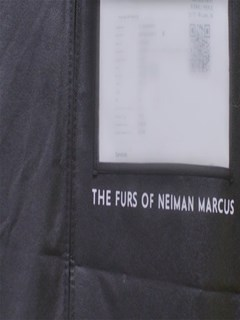 Woman's Ranch Mink Fur Coat with Gold Closure Details