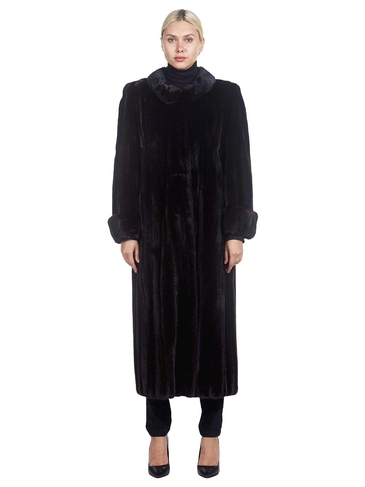 Woman's Sorbara Ranch Mink Fur Coat