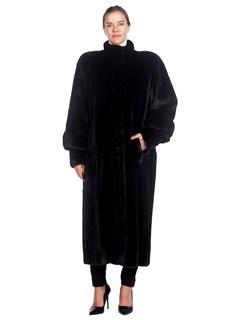 Woman's Full Length Michael Forrest Ranch Mink Fur Coat