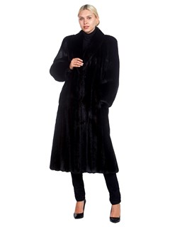 Woman's Evans Furs Ranch Mink Fur Coat