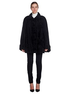 Woman's Revillon Black Broadtail Lamb Jacket