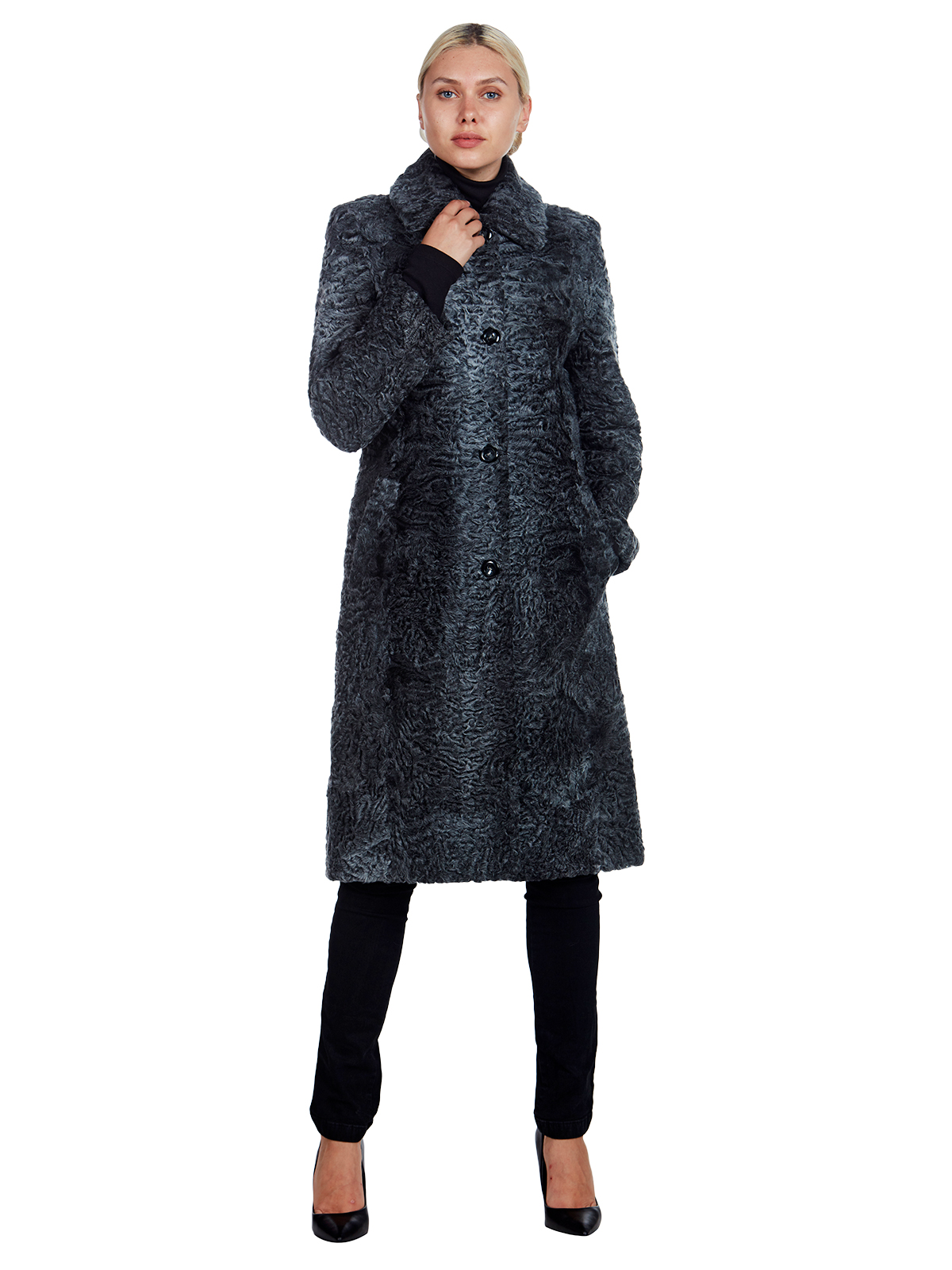 Woman's Tombolini Grey Persian Lamb Coat