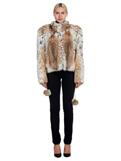 Woman's Alaska Fur Gallery Cat Lynx Fur Jacket