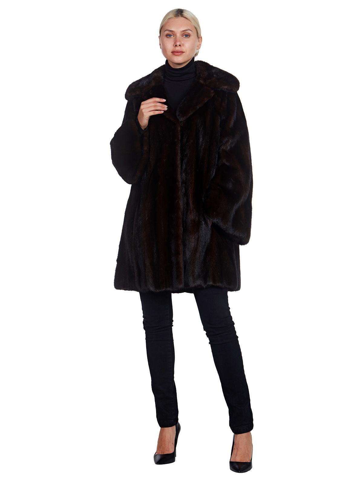 Woman's Oscar de la Renta Mahogany Mink Fur Stroller