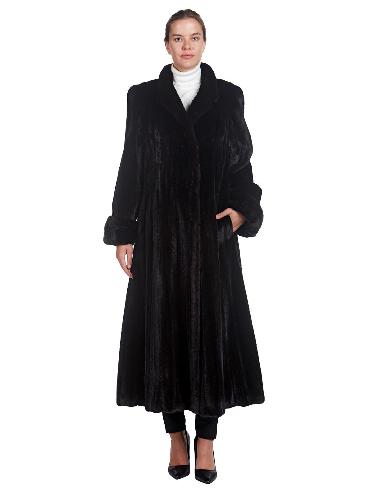 Woman's Full Length Neiman Marcus Ranch Mink Fur Coat