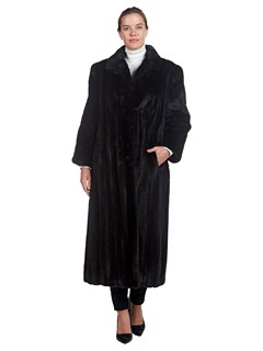 Woman's Full Length Original Design Furs By Robert Lunaraine Mink Fur Coat