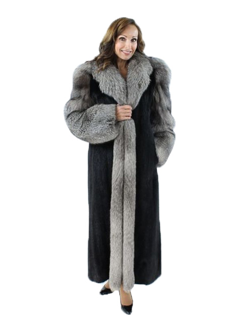 Gorgeous Ranch Mink Coat with Fox Trim | Estate Furs | Carmel Indiana