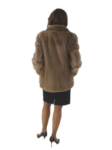 Pastel Cord Cut Mink Fur Jacket
